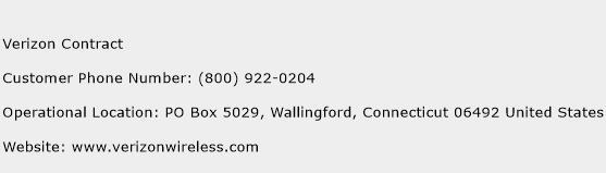 Verizon Contract Phone Number Customer Service