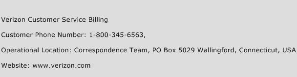 Verizon Customer Service Billing Phone Number Customer Service