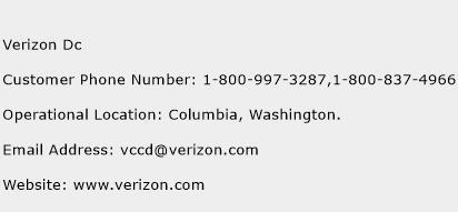 Verizon Dc Phone Number Customer Service