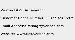 Verizon FiOS On Demand Phone Number Customer Service
