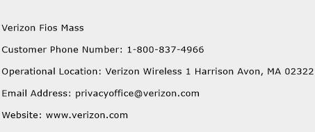 Verizon Fios Mass Phone Number Customer Service