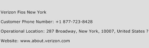 Verizon Fios New York Phone Number Customer Service