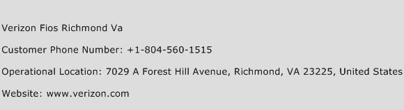 Verizon Fios Richmond Va Customer Service Phone Number | Contact ...