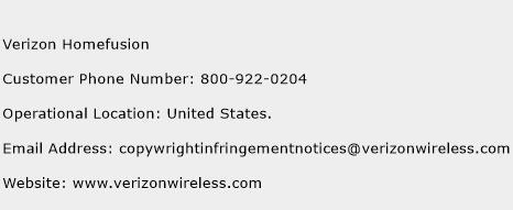 Verizon Homefusion Phone Number Customer Service