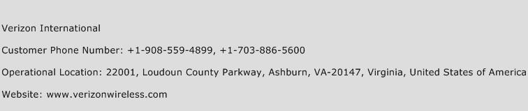 Verizon International Phone Number Customer Service