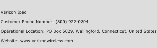 Verizon Ipad Phone Number Customer Service