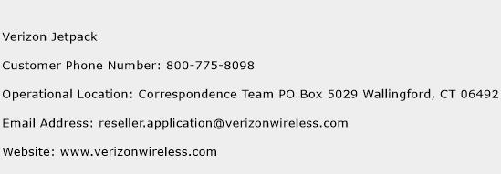 Verizon Jetpack Phone Number Customer Service