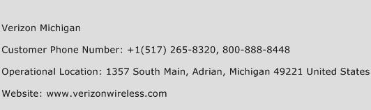 Verizon Michigan Phone Number Customer Service