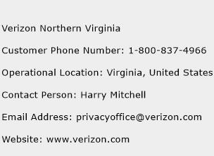 Verizon Northern Virginia Phone Number Customer Service