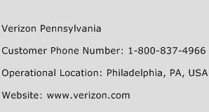 Verizon Pennsylvania Phone Number Customer Service