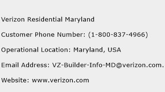 click here to view verizon residential maryland customer service phone numbers
