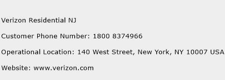 Verizon Residential NJ Phone Number Customer Service