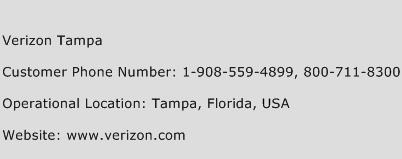 Verizon Tampa Phone Number Customer Service