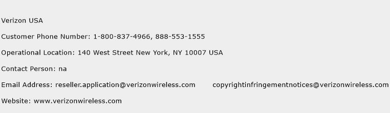 Verizon USA Phone Number Customer Service