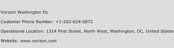 Verizon Washington Dc Phone Number Customer Service