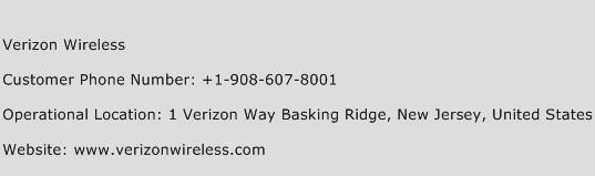 Verizon Wireless Phone Number Customer Service