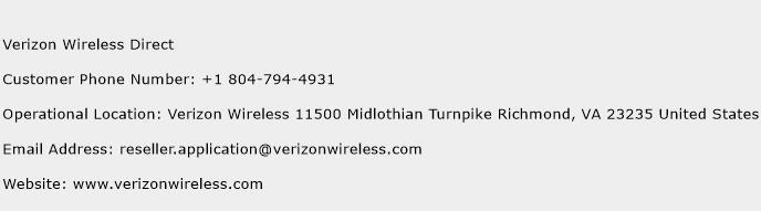Verizon Wireless Direct Phone Number Customer Service