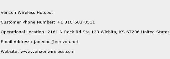 Verizon Wireless Hotspot Phone Number Customer Service