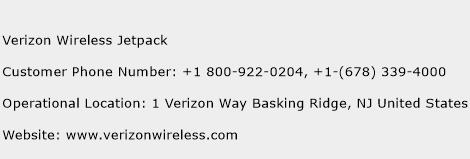 Verizon Wireless Jetpack Phone Number Customer Service