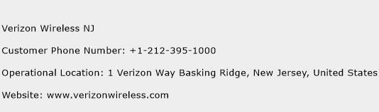 Verizon Wireless NJ Phone Number Customer Service
