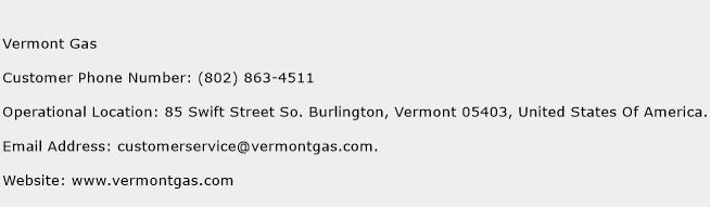 Vermont Gas Phone Number Customer Service