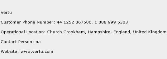 Vertu Phone Number Customer Service
