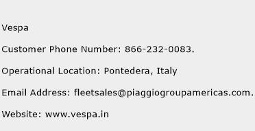 Vespa Phone Number Customer Service