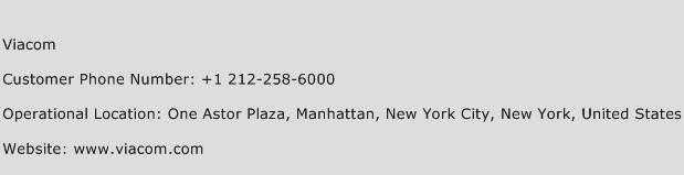 Viacom Phone Number Customer Service
