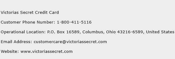 Victorias Secret Credit Card Phone Number Customer Service