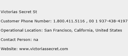 Victorias Secret St Phone Number Customer Service