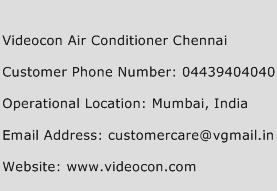 Videocon Air Conditioner Chennai Phone Number Customer Service