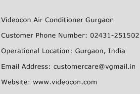 Videocon Air Conditioner Gurgaon Phone Number Customer Service