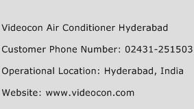 Videocon Air Conditioner Hyderabad Phone Number Customer Service