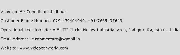 Videocon Air Conditioner Jodhpur Phone Number Customer Service