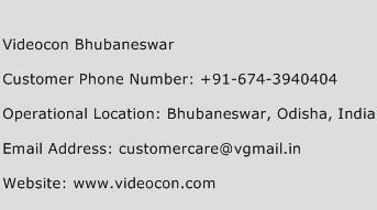 Videocon Bhubaneswar Phone Number Customer Service