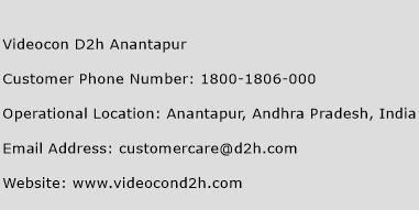 Videocon D2h Anantapur Phone Number Customer Service