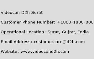 Videocon D2h Surat Customer Care Number Toll Free Phone