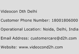 Videocon DTH Delhi Phone Number Customer Service