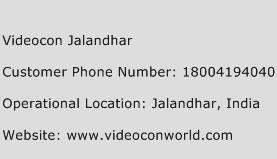 Videocon Jalandhar Phone Number Customer Service