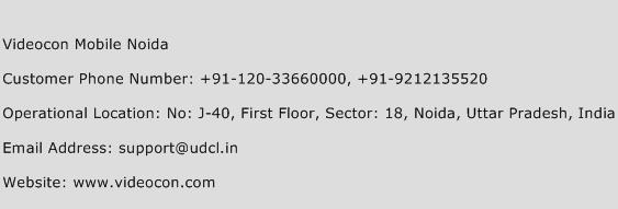Videocon Mobile Noida Phone Number Customer Service