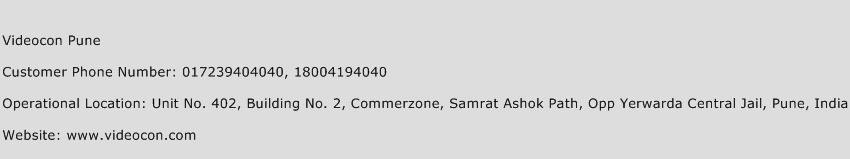 Videocon Pune Phone Number Customer Service