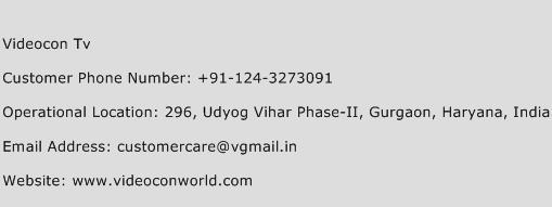 Videocon TV Phone Number Customer Service