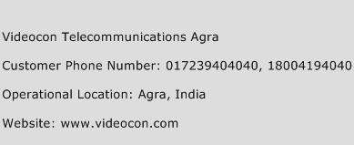 Videocon Telecommunications Agra Phone Number Customer Service