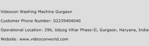 Videocon Washing Machine Gurgaon Phone Number Customer Service