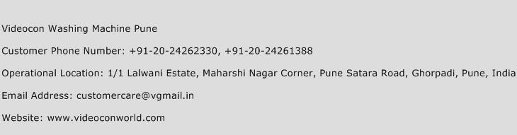 Videocon Washing Machine Pune Phone Number Customer Service
