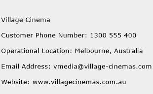Village Cinema Phone Number Customer Service