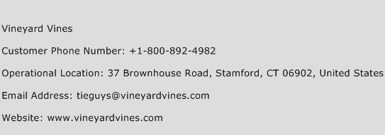 Vineyard Vines Phone Number Customer Service