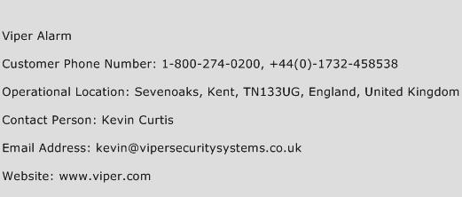Viper Alarm Phone Number Customer Service