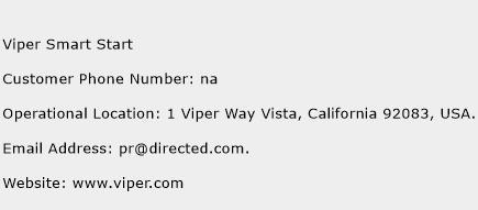Viper Smart Start Phone Number Customer Service