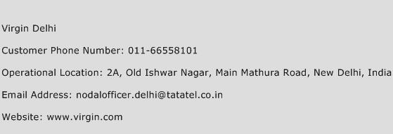 Virgin Delhi Phone Number Customer Service